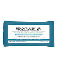 ReadyFlush Biodegradable Flushable Wipes Unscented 8