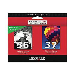 Lexmark 3637 18C2229 BlackColor Ink Cartridges