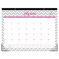 Blue Sky Monthly Desk Pad Calendar