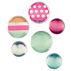 Divoga Round Acrylic Magnets Merry Bright