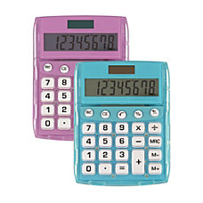 Ativa 8 Digit Desktop Calculator Assorted