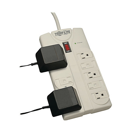 tripp lite tlp808 protect it 8 outlet surge suppressor 8ft cord 1440 joules by office depot. Black Bedroom Furniture Sets. Home Design Ideas