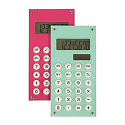 Ativa Handheld Calculator Assorted Colors 641