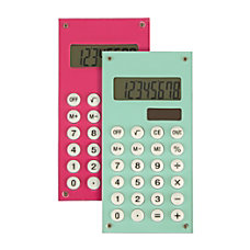 Ativa Handheld Calculator Assorted Colors 641