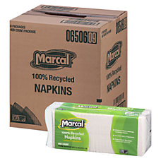 Marcal 100percent Recycled Paper Luncheon Napkins