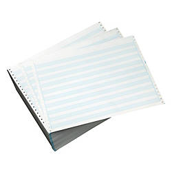 Office depot brand computer paper 1 part 18 lb 14 78 x 11 Blue bond paper