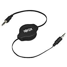 Tripp Lite 4ft Mini Retractable Stereo