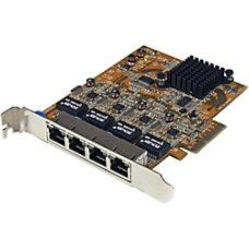 StarTechcom 4 Port PCIe Gigabit Ethernet