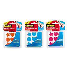 Scotch Reusable Adhesive Shapes 1 x