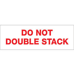 Tape Logic Do Not Double Stack