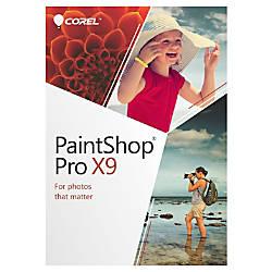 Corel PaintShop Pro X9 Traditional Disc