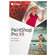 Corel PaintShop Pro X9 Traditional Disc