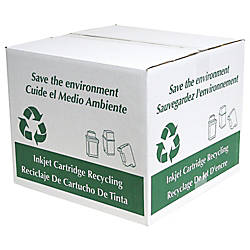 office depot brand recycling boxes for empty ink cartridges pack of 2 by office depot officemax. Black Bedroom Furniture Sets. Home Design Ideas