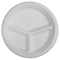 Genuine Joe 3 compartment Disposable Plates