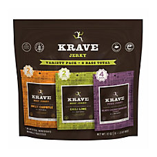 Krave Beef Jerky Variety Pack Bag