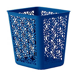 United Solutions Trellis Rectangular Plastic Wastebasket