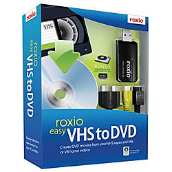 Roxio® Easy VHS To DVD, Traditional Disc