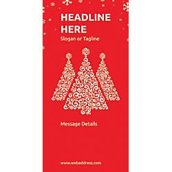 Custom Vertical Banner Red Christmas