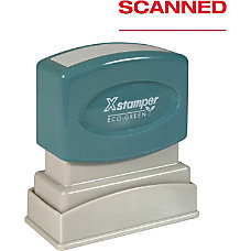 Xstamper SCANNED Pre inked Stamp Message