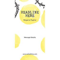 Custom Vertical Banner Abstract Yellow