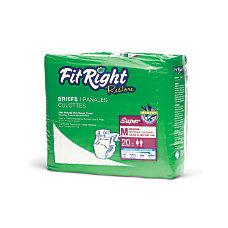 FitRight Restore Briefs Medium White Bag