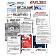 ComplyRight Federal Contractor Posters Bundle English