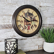 FirsTime Buck Round Wall Clock 12