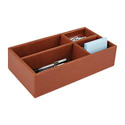 Realspace Faux Leather Desktop Storage Box