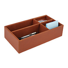 Realspace Faux Leather Desktop Storage Box