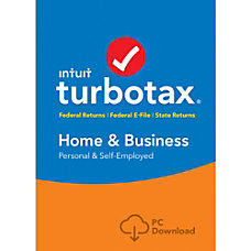 TurboTax Home Business Fed State 2016