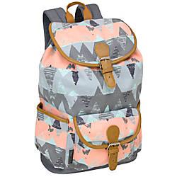 Emma Chloe Cotton Drawstring Backpack Grey