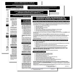 ComplyRight State Specialty Posters Multilingual Massachusetts