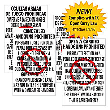 ComplyRight Texas Weapons Law Poster Bundle