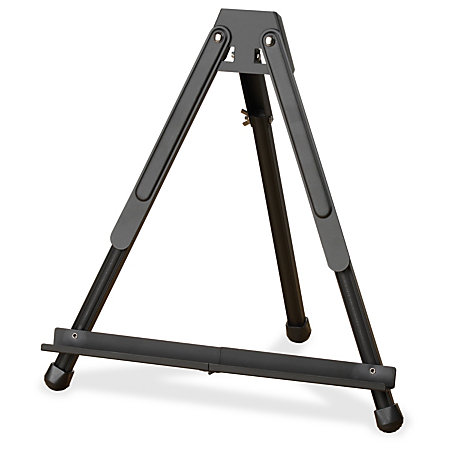 Quartet Portable Aluminum Easel Black Surface Rectangle