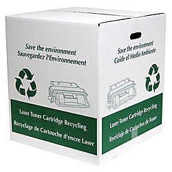 office depot brand recycling boxes for empty toner cartridges pack of 2 by office depot officemax. Black Bedroom Furniture Sets. Home Design Ideas
