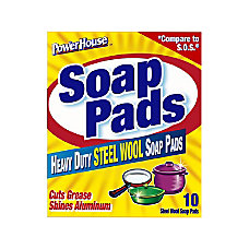 PowerHouse Steel Wool Soap Pads Pack