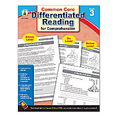 Carson Dellosa Differentiated Reading For Comprehension