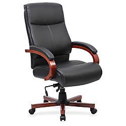 Lorell Executive Chair Black Cherry 27