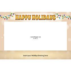 Photo Greeting Card Horizontal Happy Holiday