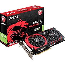 MSI GTX 980 GAMING 4G GeForce