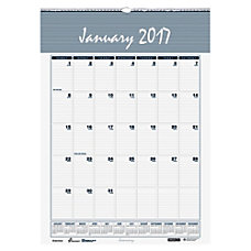 Monthly Dated Wall Calendar 15 x