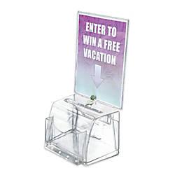 Azar Displays Plastic Suggestion Box With