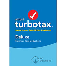 TurboTax Deluxe Federal State 2016 For