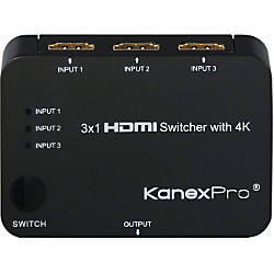 KanexPro 3x1 HDMI Switcher with 4K