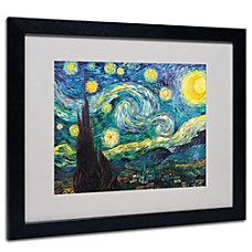 Trademark Global Starry Night Matted And