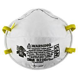 3M N95 Particulate Respirator 8210Plus White