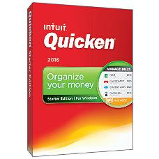 Quicken Starter 2016 Traditional Disc