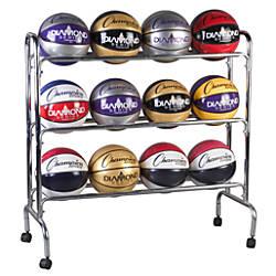 Champion Sports 12 Ball Basketball Rack