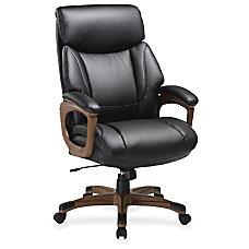 Lorell Executive Chair Black Walnut Bonded