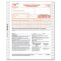 ComplyRight 1096 Transmittal Continuous Tax Forms